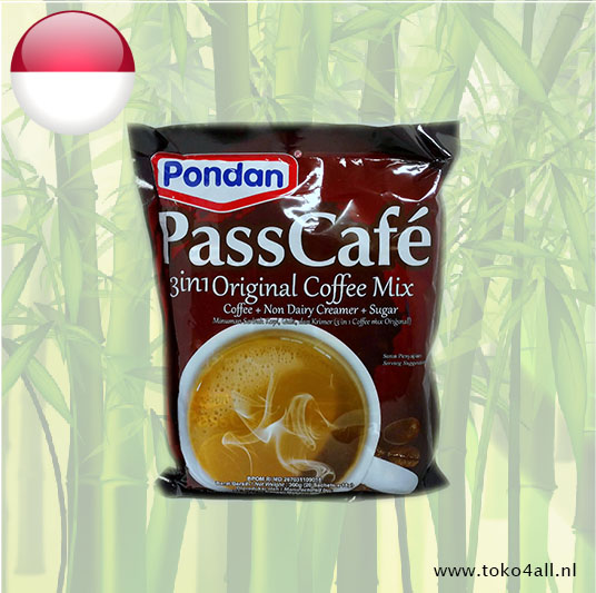Toko 4 All - Pass Cafe 3 in 1 Original Coffee Mix 360 gr Pondan