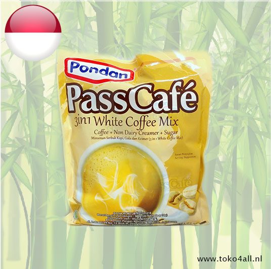 Toko 4 All - Pass Cafe 3 in 1 White Coffee Mix 360 gr Pondan