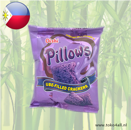 Toko 4 All - My Little Philippines - Pillows Ubbe filled crackers 38 gr Oishi