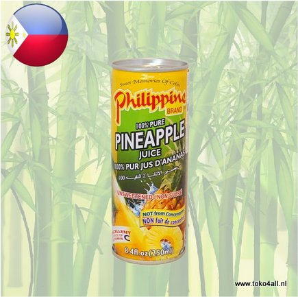 Toko 4 All - Pineapple Juice 250 ml Philippine Brand