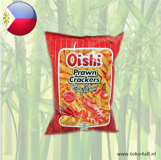 Toko 4 All - Prawn Crackers Spicy 90 gr Oishi