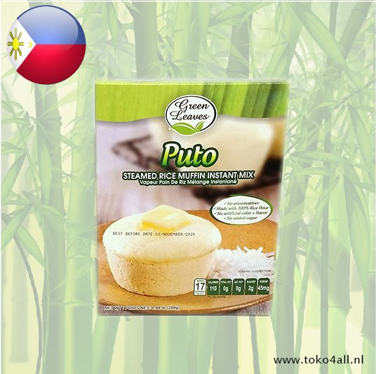 Toko 4 All - Puto Steamed Rice muffin instant mix 200 gr Green Leaves