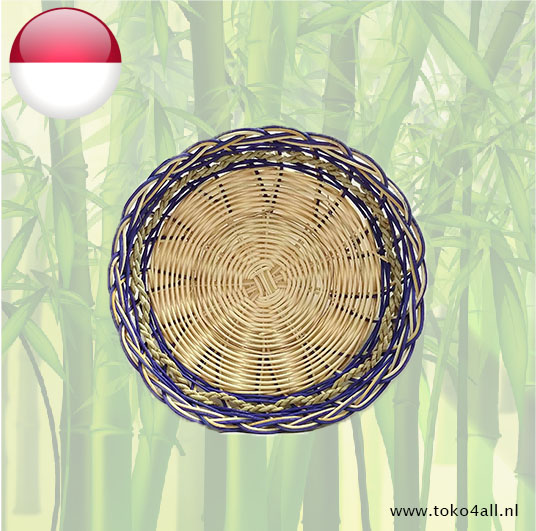 Toko 4 All - My Little Philippines - Rattan Plate Blue 24 cm Nesia Food