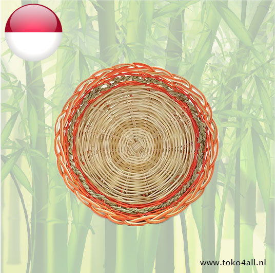 Toko 4 All - My Little Philippines - Rattan Plate Orange 24 cm Nesia Food