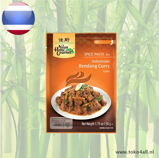 Toko 4 All - Rendang spice Paste 50 gr Asian Home Gourmet