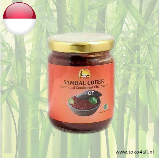 Toko 4 All - Sambal Cobek Hot 240 gr Nesia