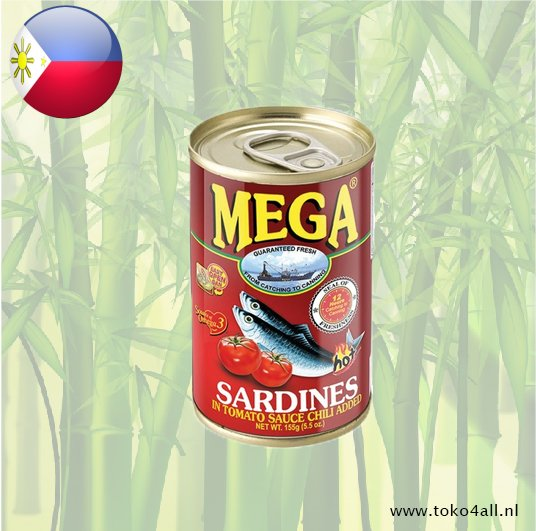Toko 4 All - Sardines in tomato sauce with chili 155 gr Mega