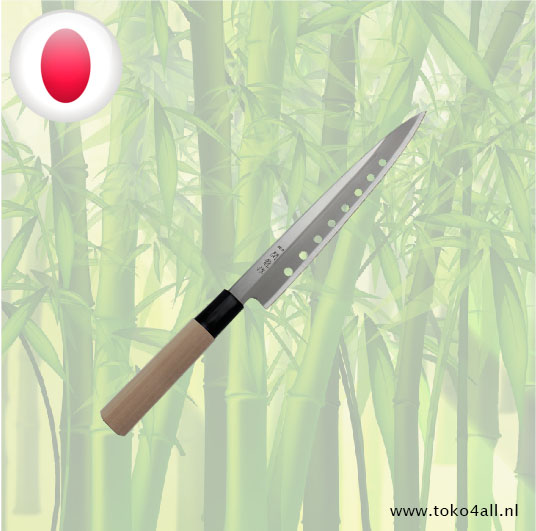 Toko 4 All - Sashimi Knife with holes 21 cm Seki Ryu
