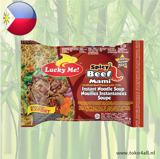 Toko 4 All - Spicy Beef Instant Noodle Soup 60 gr Lucky Me