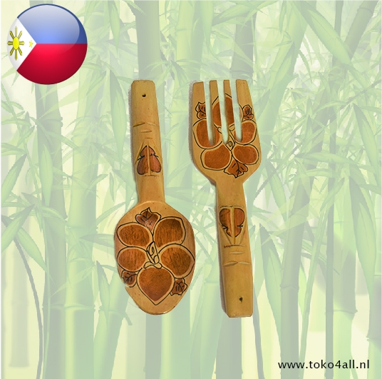 Toko 4 All - Spoon and Fork 31 x 7,5 x 1 cm Kahoy