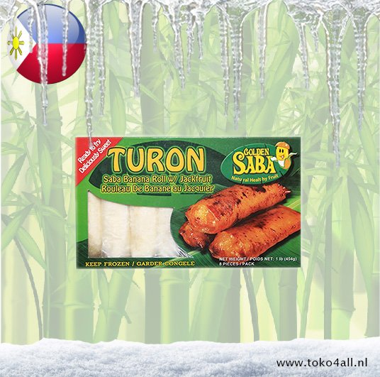 Toko 4 All - Turon Banana Roll with Jackfruit 454 gr Golden Saba