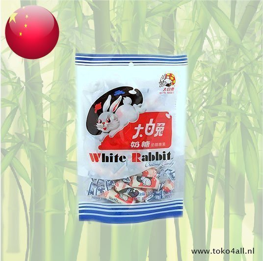 Toko 4 All - White Rabbit Romige snoepjes 108 gr White Rabbit