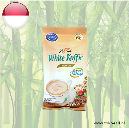 Toko 4 All - Witte Koffie Less Sugar 200 gr Luwak