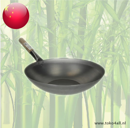Toko 4 All - Wok flat with wooden handle 38 cm