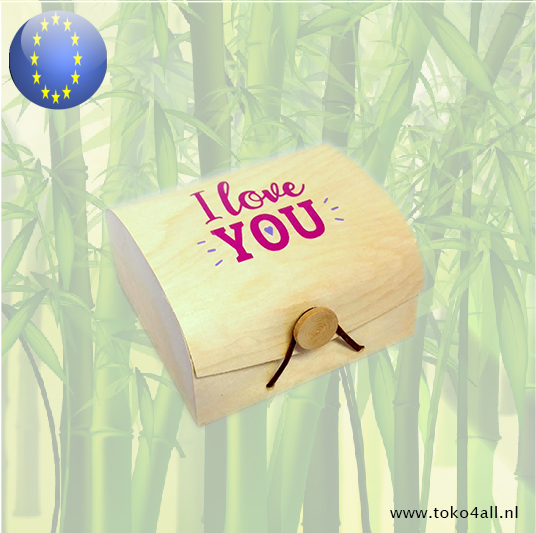 Toko 4 All - Wooden Gift box I Love You 9 x 10 x 6 cm
