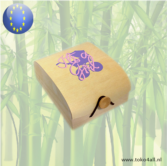 Toko 4 All - Wooden Gift box Its A Girl 13,5 x 10,5 x 6 cm(KOPIE)