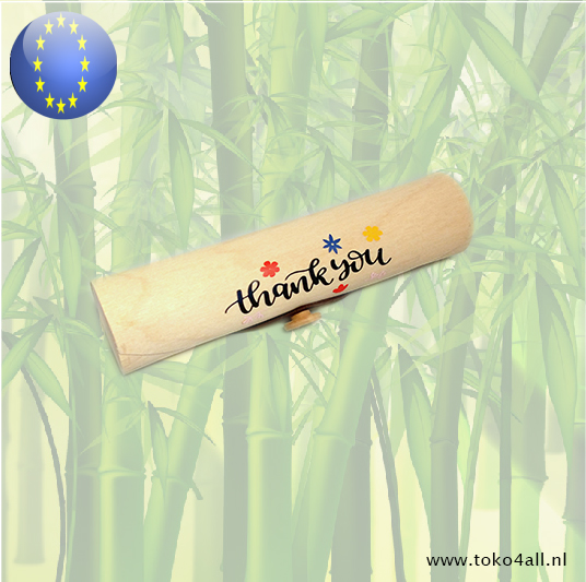 Toko 4 All - Wooden Gift box Thank You tube shape 18 cm 4 cm